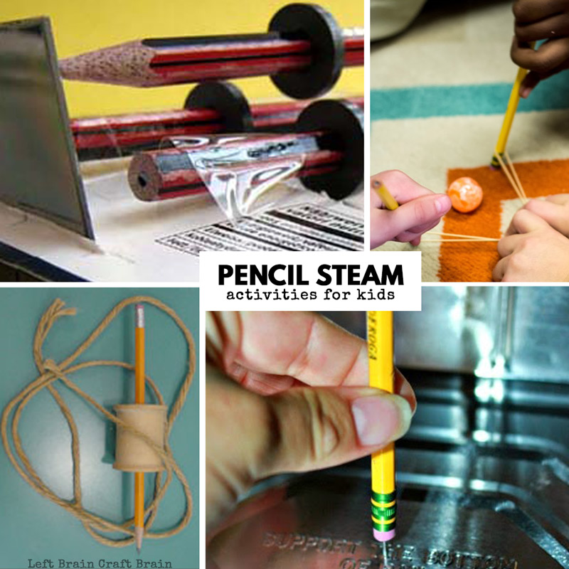Pencil STEM Activities for Kids for Back to School - Left