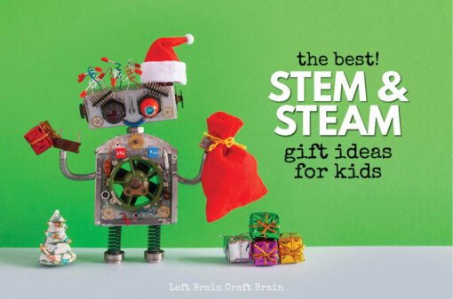 Kids will love getting gifts from this list of STEAM & STEM Gift Ideas for Kids! It's filled with STEM toys, engaging books, robots, tech toys, building kits, science kits, and more. All perfect gift ideas for the holidays or birthdays.