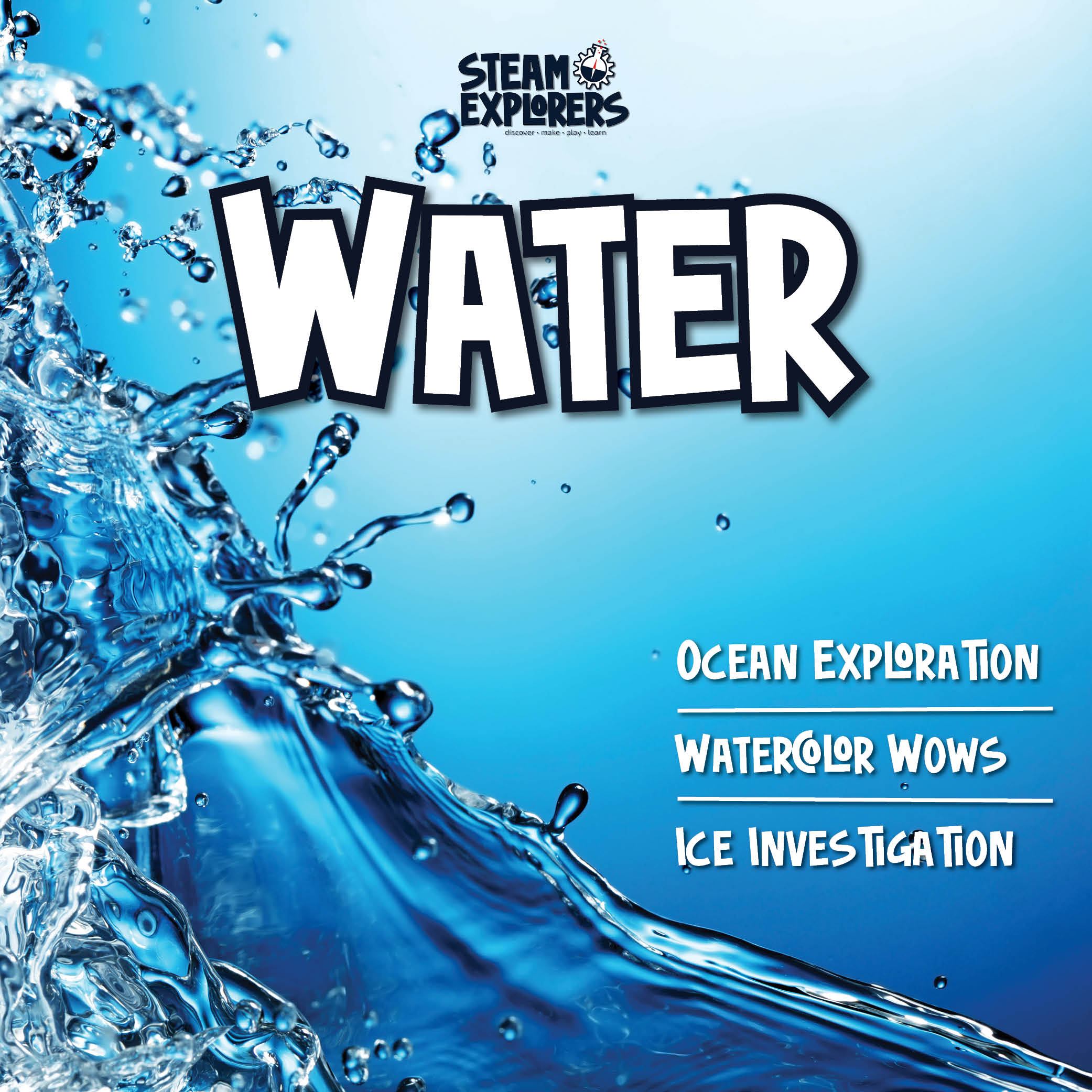 Water Book by STEAM Exlores Square Cover