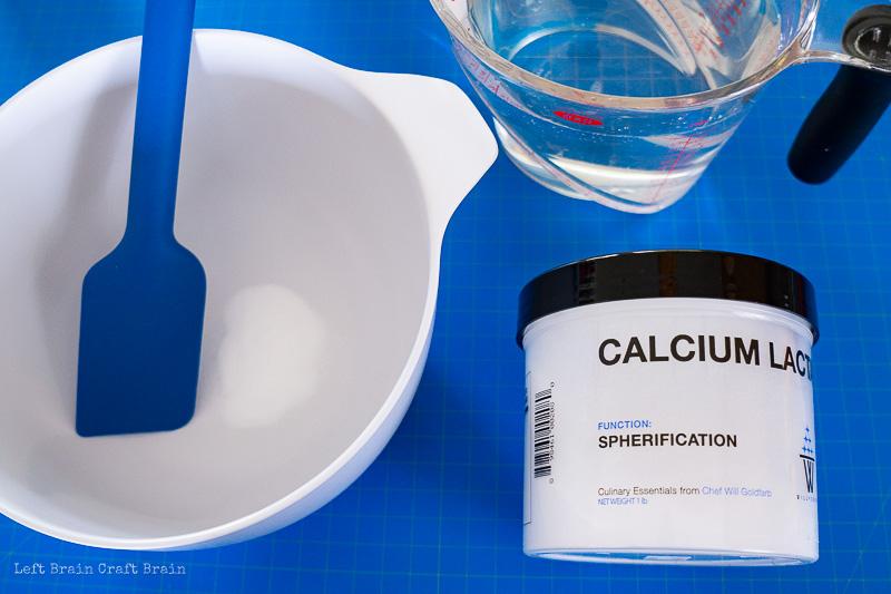 make the calcium lactate solution
