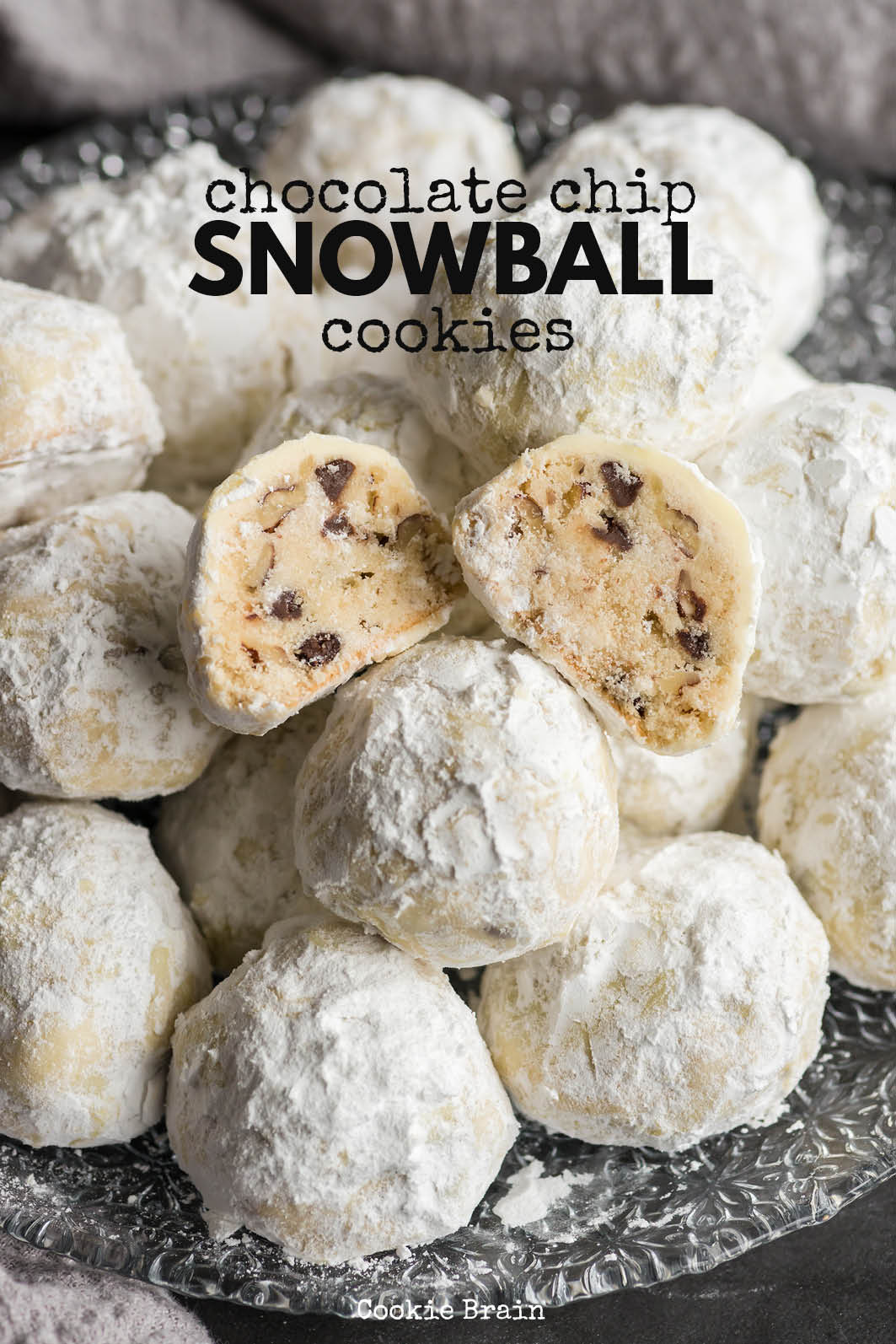 These buttery, melt-in-your-mouth chocolate chip snowball cookies are the perfect winter treat. Whether you call them Russian tea cakes or Mexican wedding cookies, you can call them amazing!