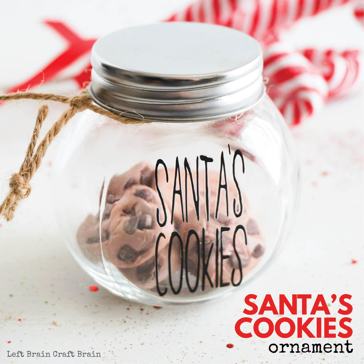 Make this adorable Santa's Cookies DIY Christmas Ornament for a fun gift for the kids or activity to do with the kids. It makes a great gift along with a batch of homemade cookies, too. What a sweet Christmas tradition!