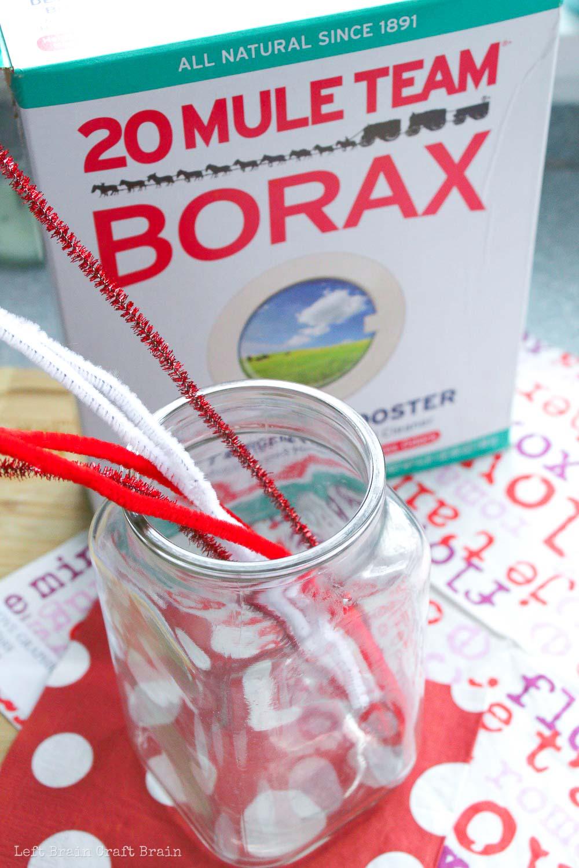 Valentine Heart Borax Crystals Supplies