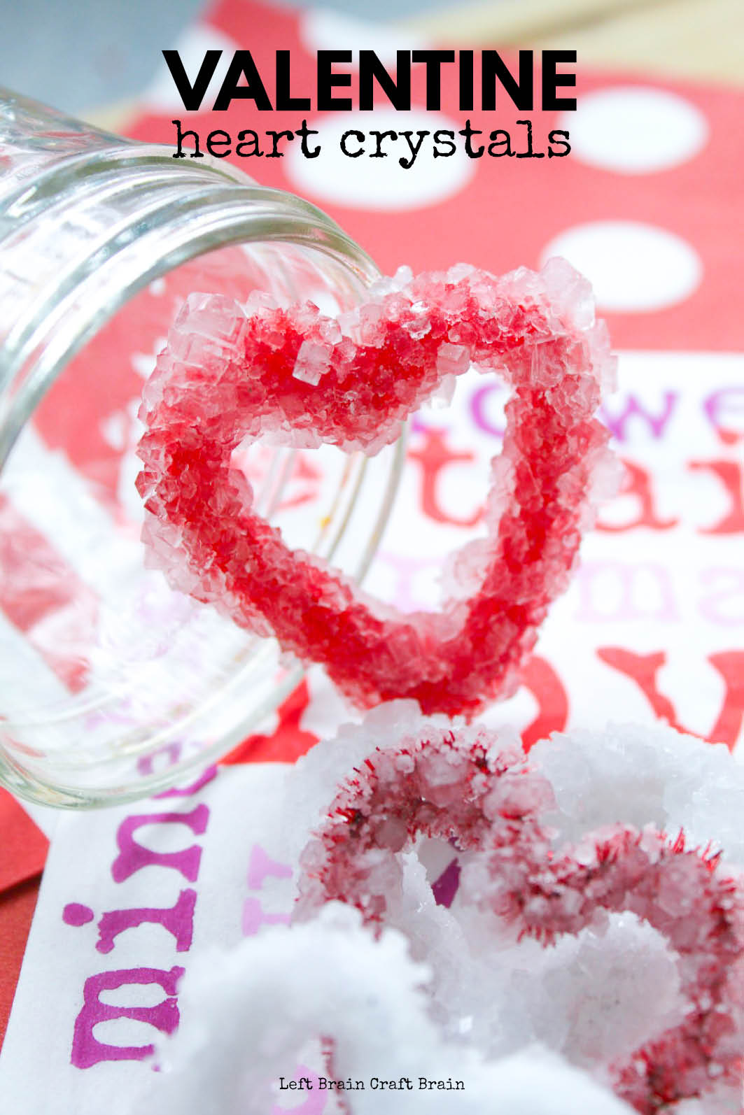 Grow these lovely Valentine Heart Borax Crystals for a fun science experiment this February. Kids will love customizing their hearts and watching the crystals grow.