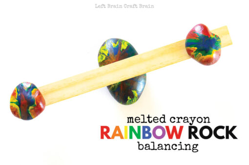Melted Crayon Rainbow Rock Balancing 680x450