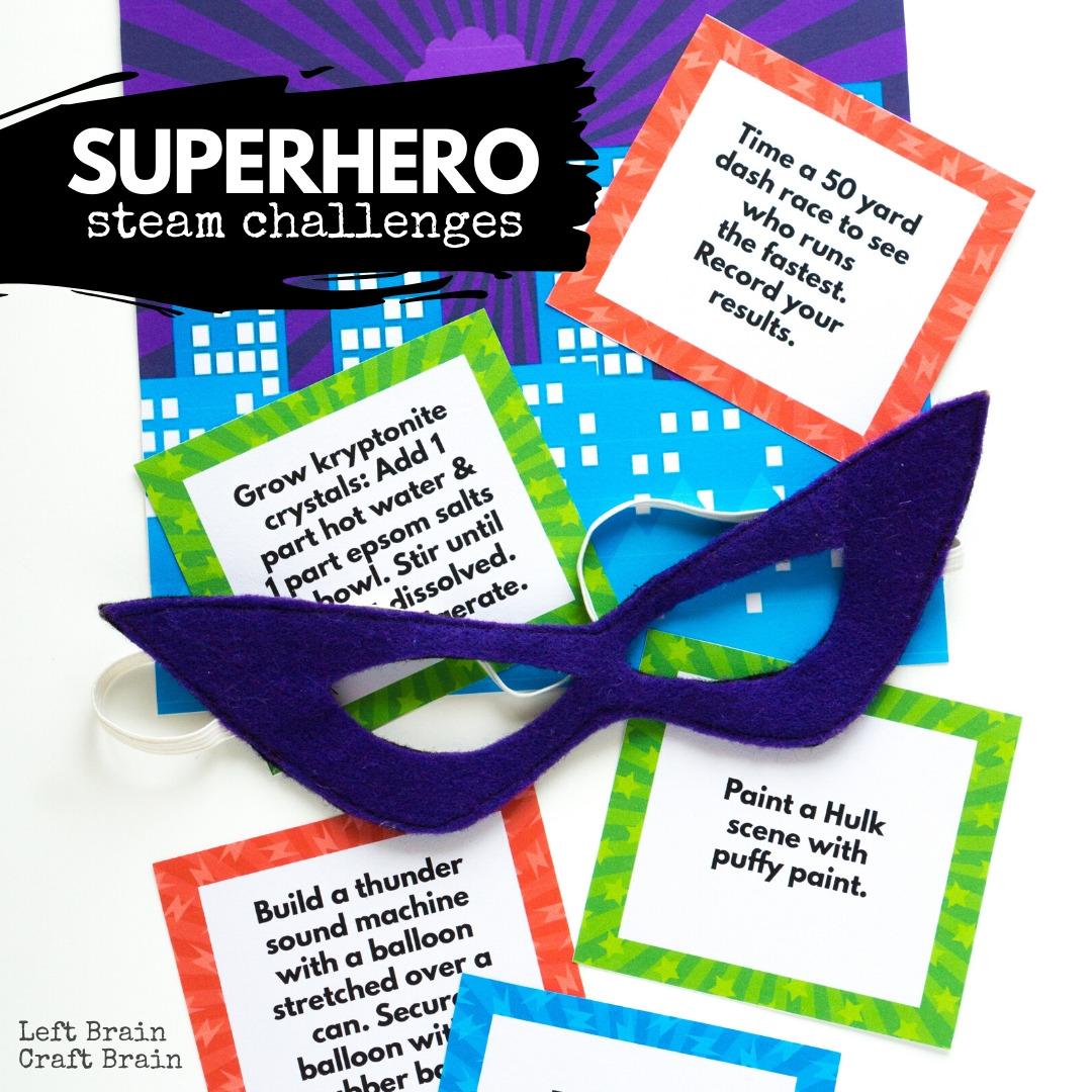 Superhero STEAM Challenges 1080x1080