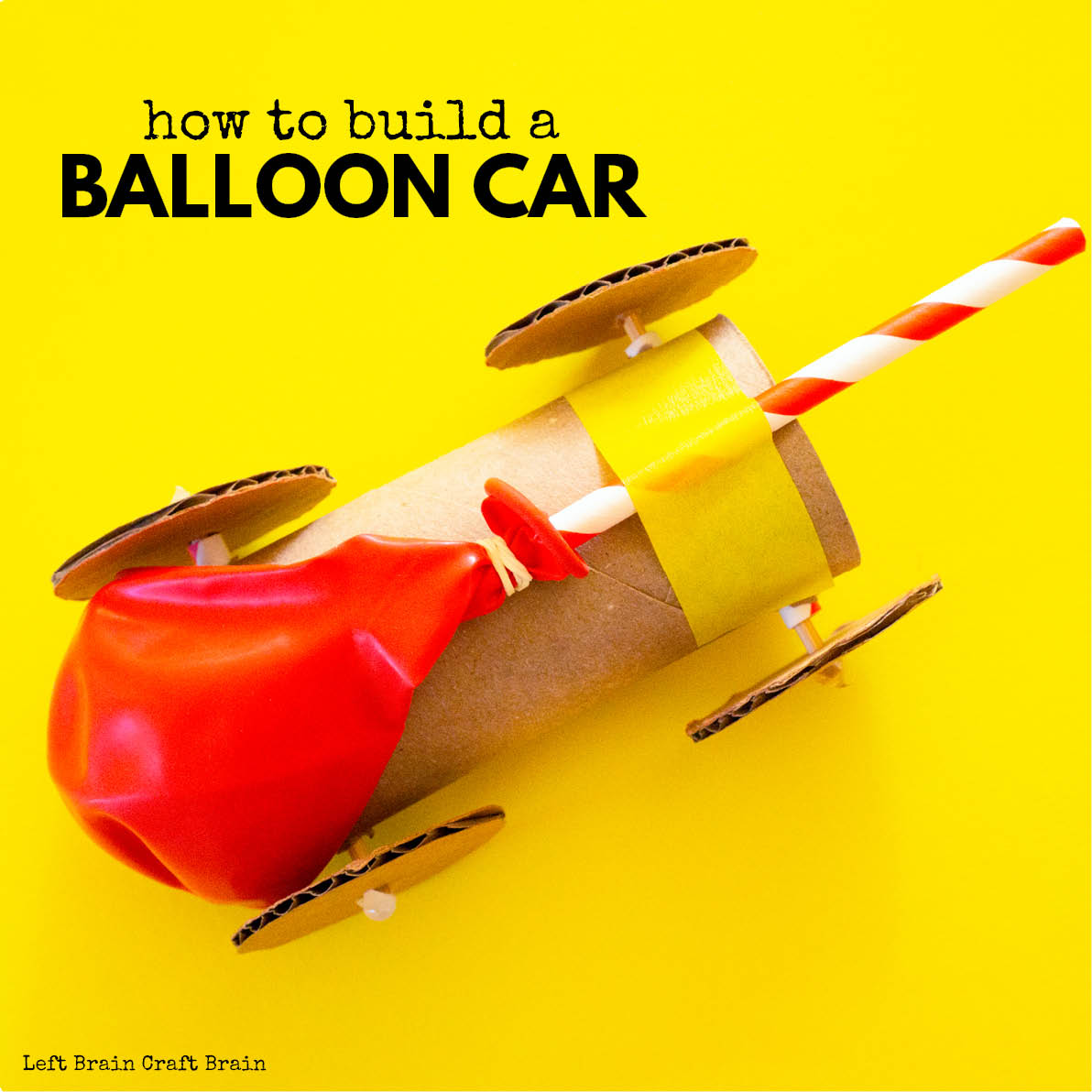 toilet paper roll balloon car