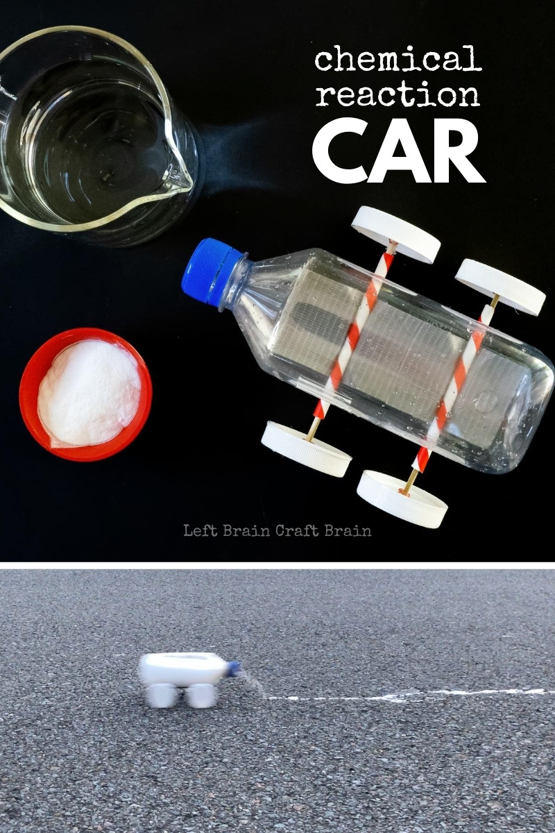 Kids will love building and learning with this Chemical Reaction Car. A science experiment gives the car its go. Perfect STEM project for scouts or school!