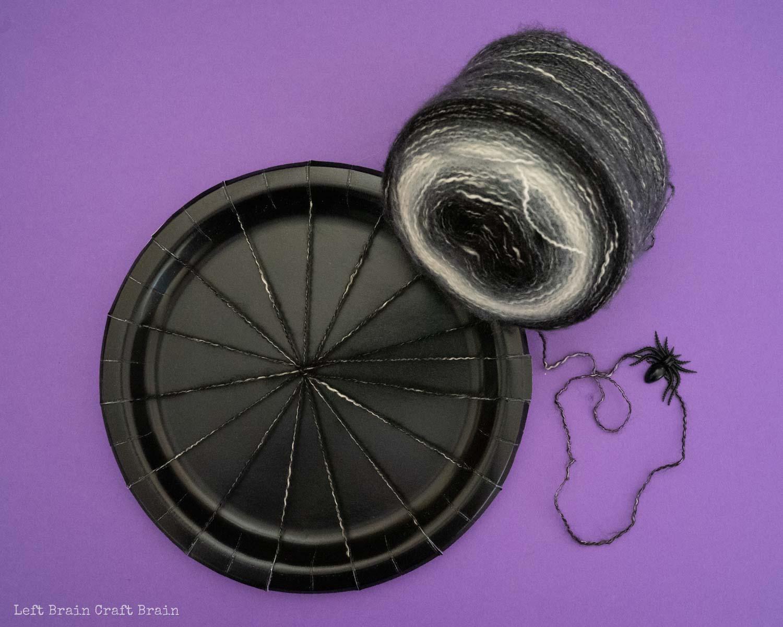finished spider web loom