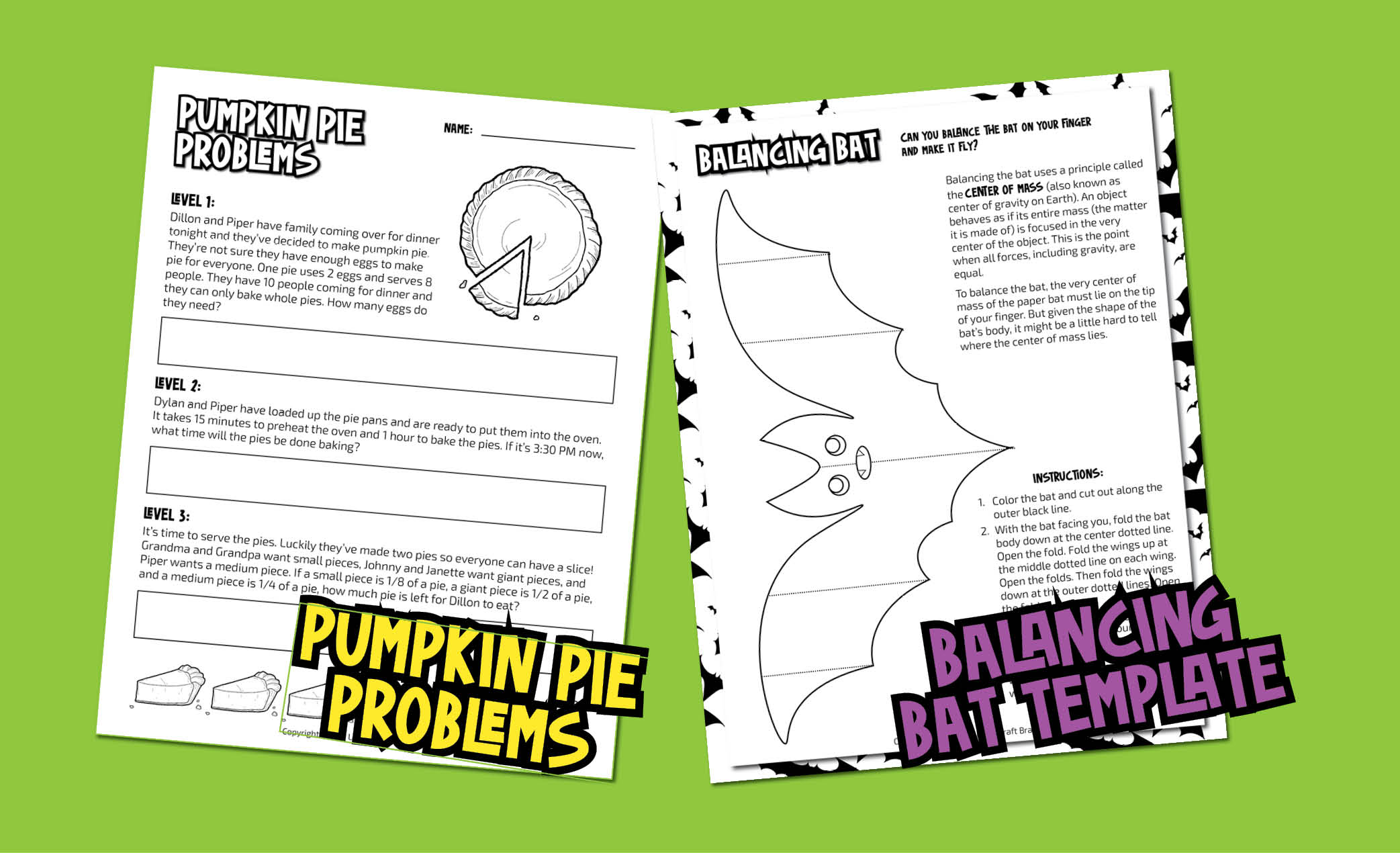Fall and Halloween Bundle Printables pic 2 vb