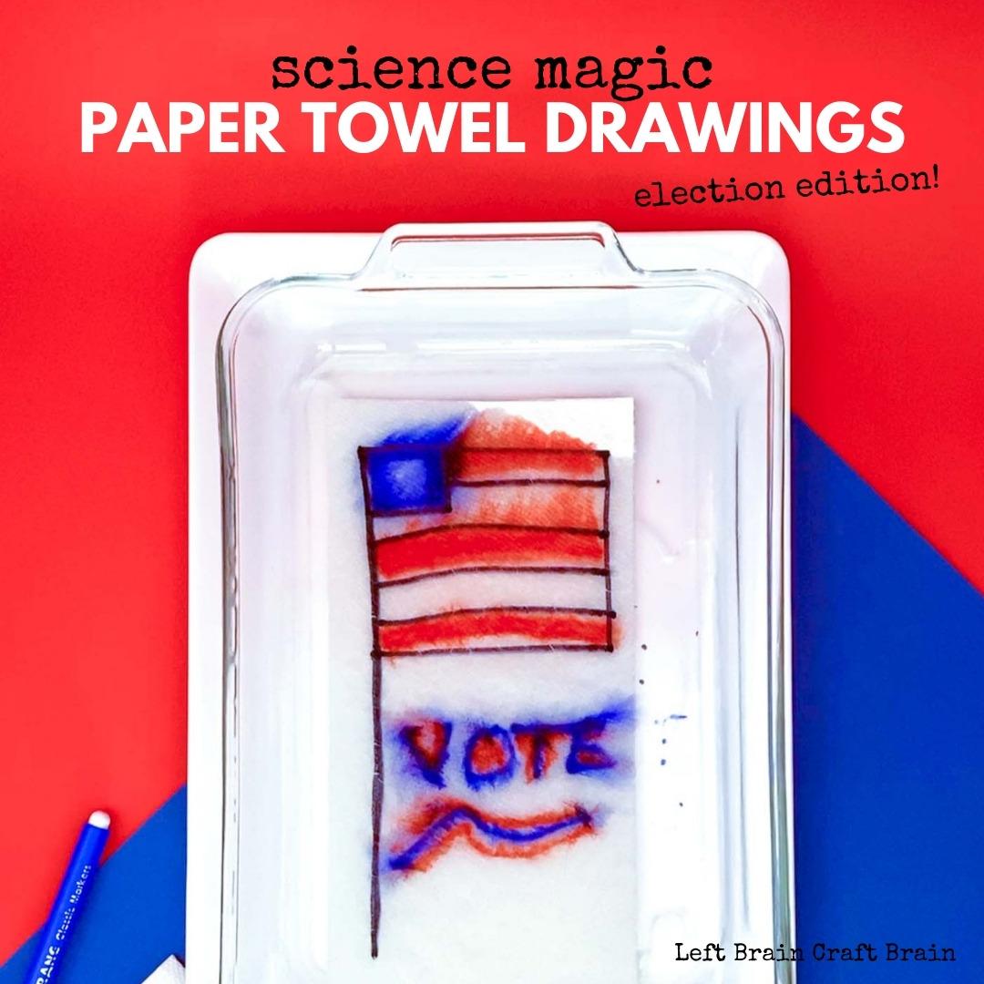 flag paper towel drawings