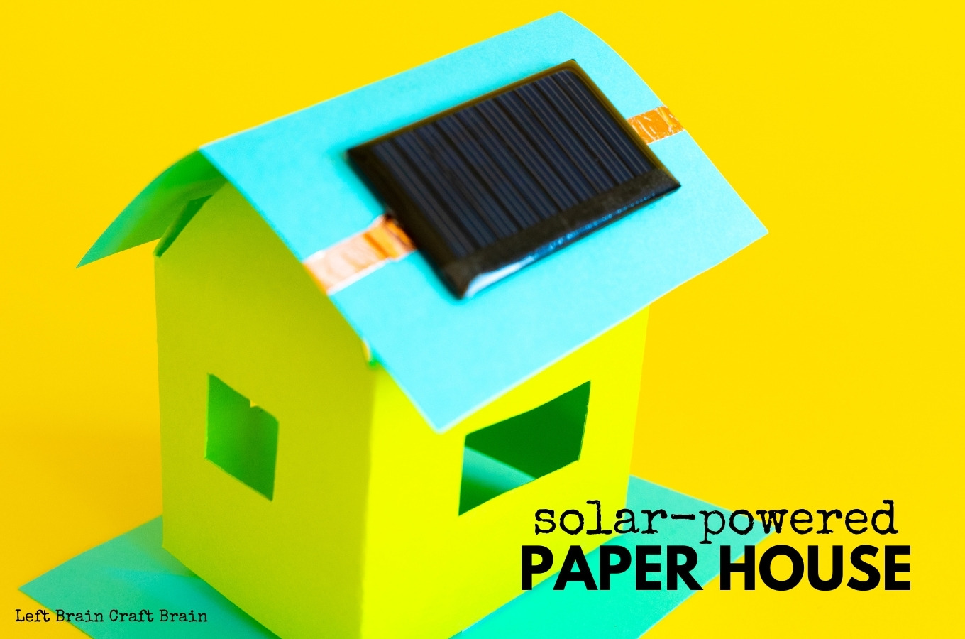solar powered paper house