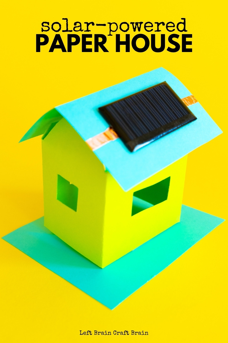 Kids can learn about solar energy with their very own solar-powered paper house. This fun STEM project comes with a helpful template, too.