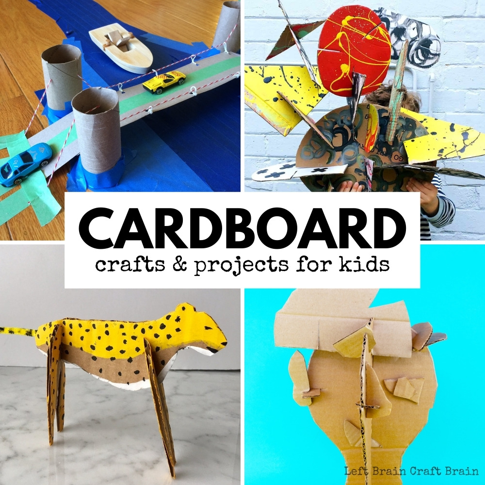 This is an amazing list of ways to use all that leftover cardboard! From cardboard crafts to cardboard marble mazes this list has art, engineering, & more.