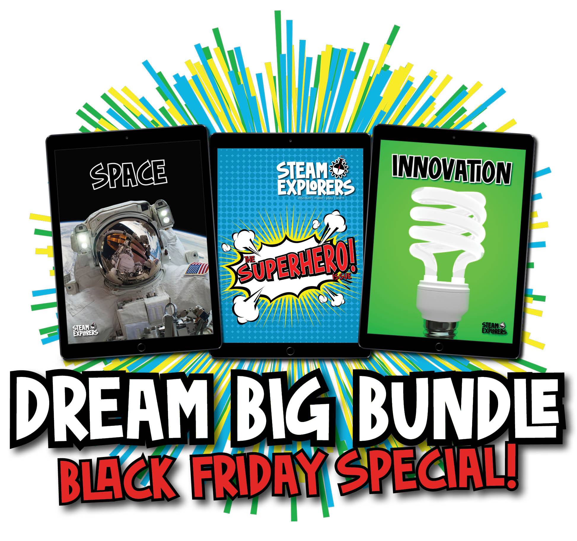 Dream Big Bundle Covers Explosion Black Friday Special horizontal