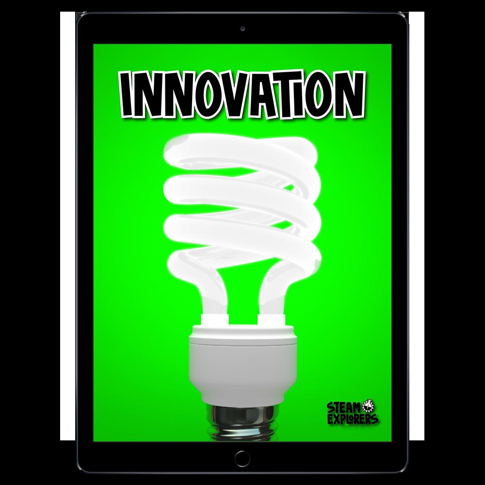 STEAM Explorers ipad Mockup - Innovation - Transparent