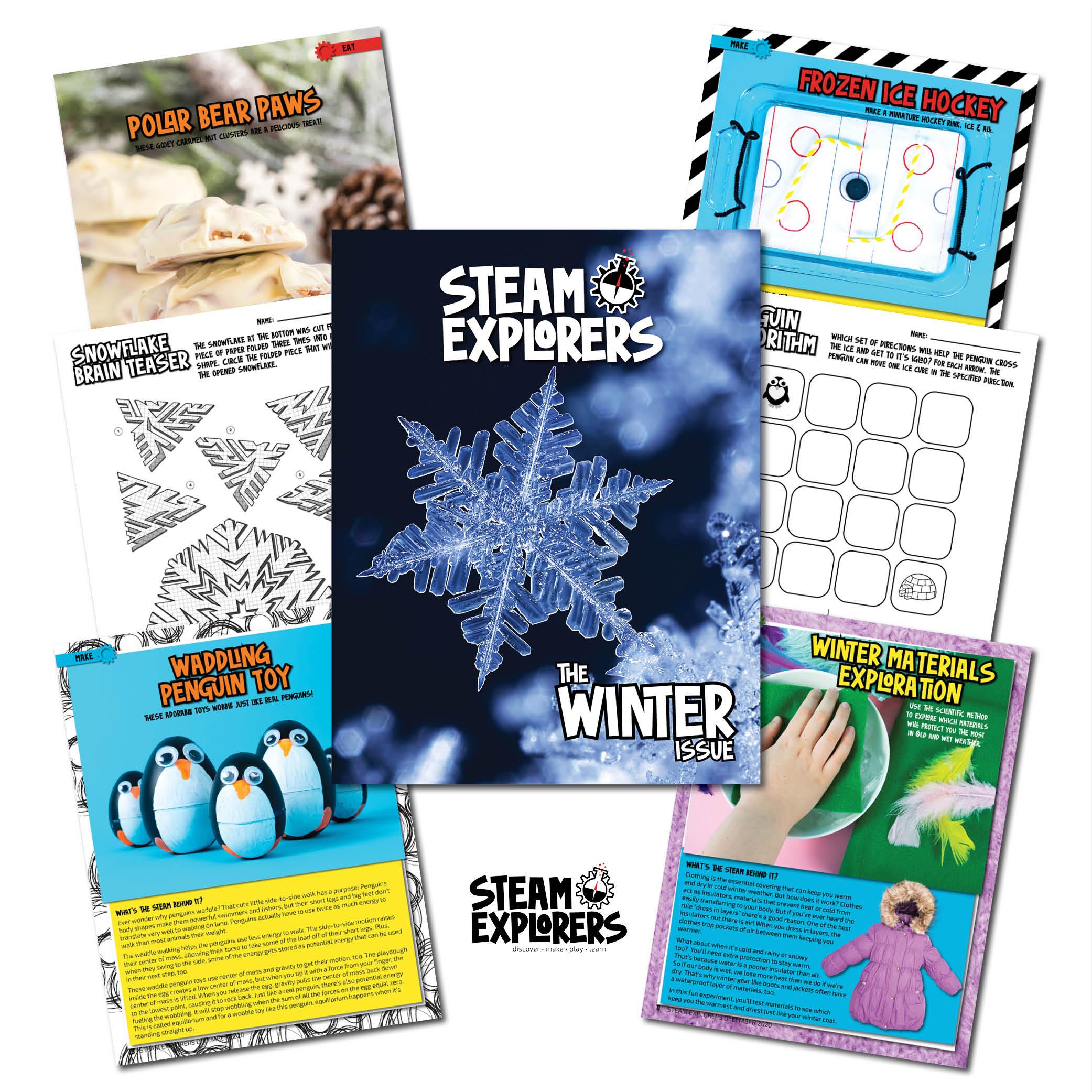STEAM Explorers Winter Collage 1000x1000