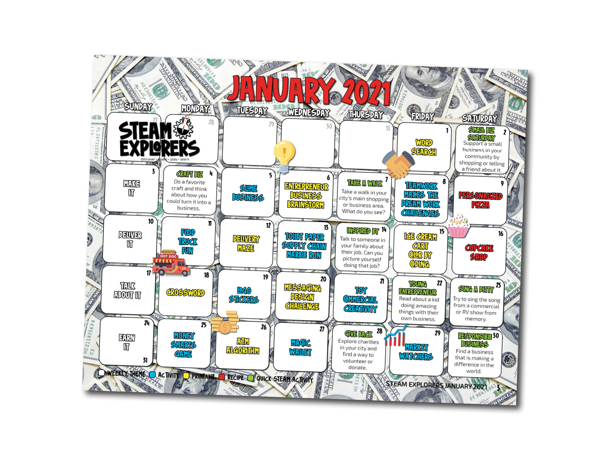 Business Issue Calendar 1 page