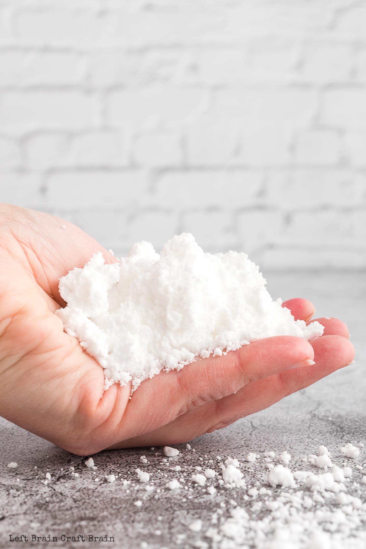 handful of fake snow