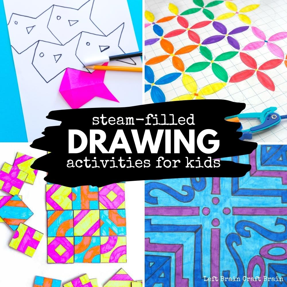 Power up your child's next drawing session with these fun STEAM-filled drawing activities that add math, science, engineering, and more.