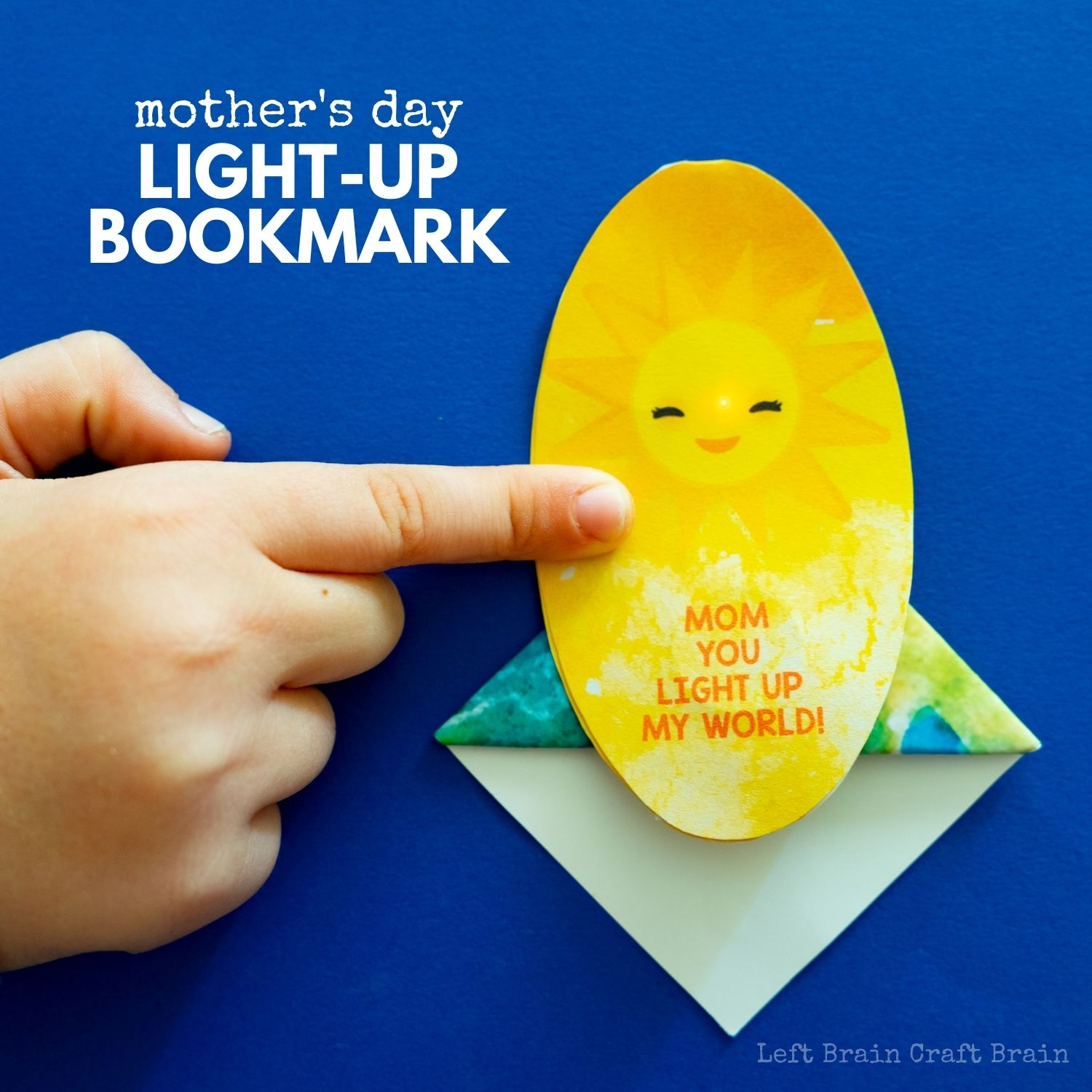 Make mom a unique gift by crafting this Mother's Day Light-up Bookmark for her. It's a great STEM project to learn about electricity and origami.