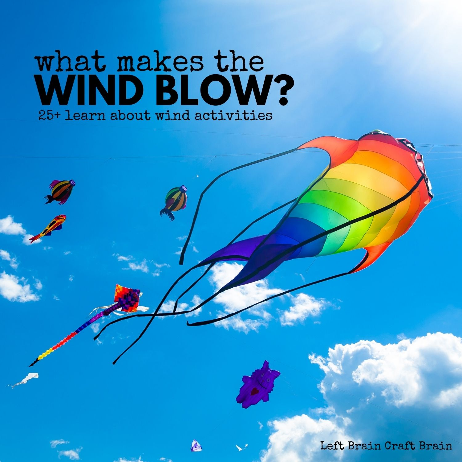 Learn about wind with 25 activities for kids: arts & crafts, science, motor skills, books, & more! Plus all the science behind what makes the wind blow.