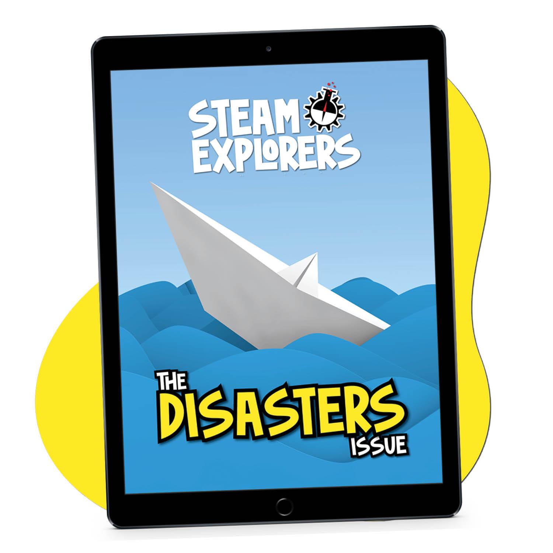 Disasters ipad on yellow blob