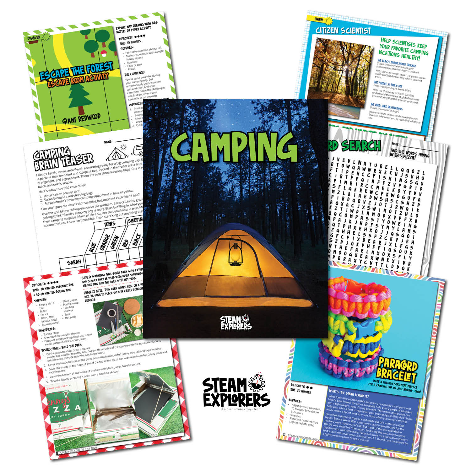 whats inside - camping ebook