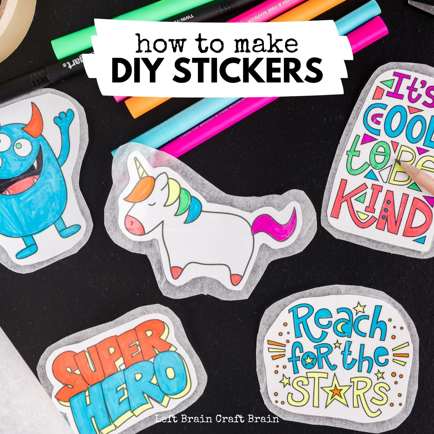 Make your own DIY stickers with a super easy process using basic supplies. Kids will love this activity. They're fun to add to presents, too.