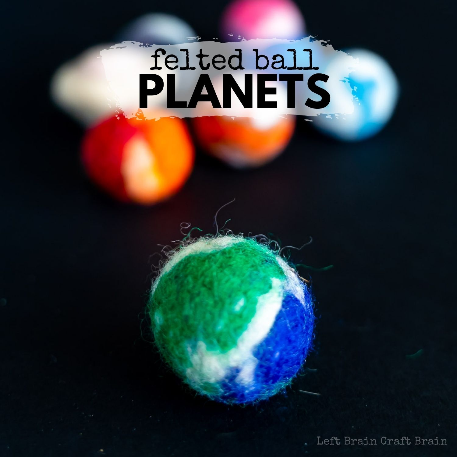 These Felted Ball Planets are a gorgeous craft that helps kids learn about the planets and make cute decorations too.
