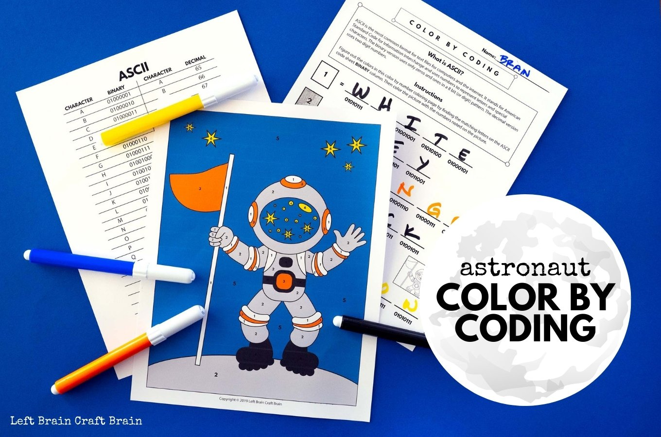 Astronaut Color by Coding 1360x900
