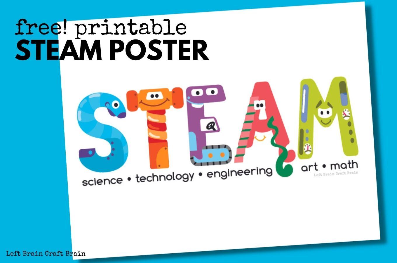 Free Printable STEAM Poster 1360x900