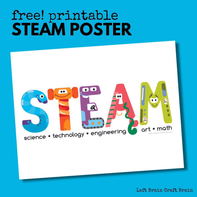 Free Printable STEAM Poster 1500x1500