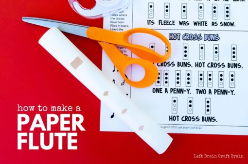 how to make a paper flute 1360x900