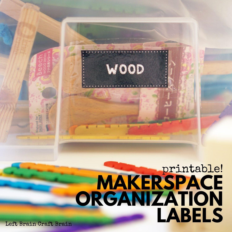 printable makerspace organization labels 1500x1500