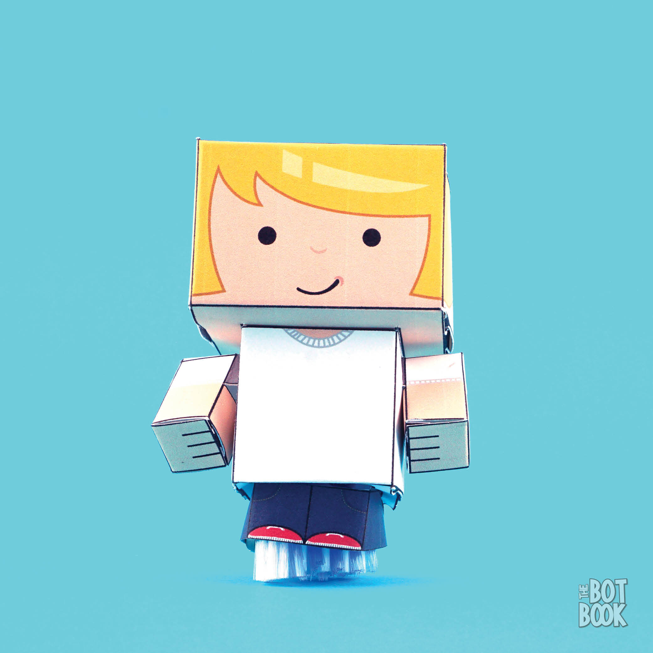 3-D Paper Toy Bot 2000x2000